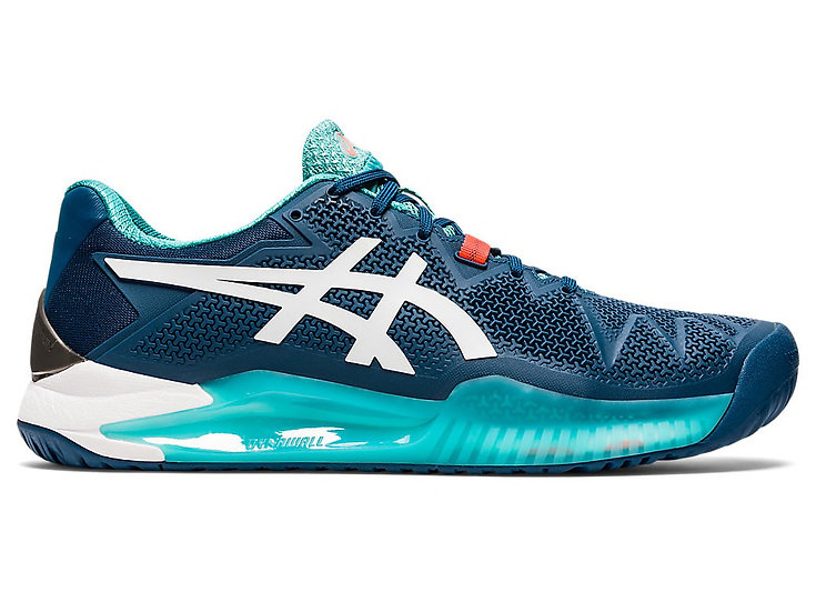 Mens Asics Gel-Resolution 8 (Mako Blue/White)