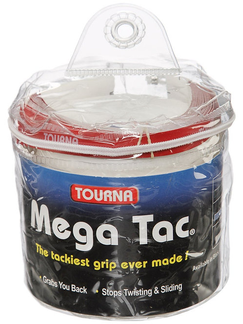 Tourna Mega Tac Overgrip 30-Pack White