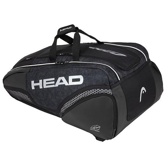 Head Djokovic 12R Monstercombi Bag (Black/White)