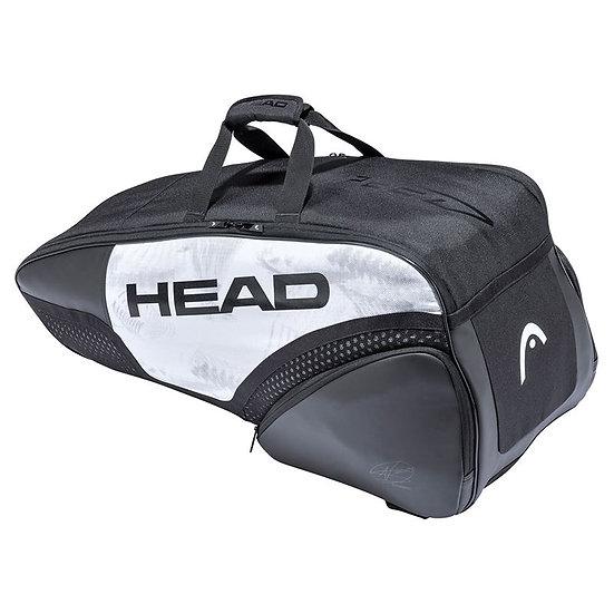 Head Djokovic 6R Combi Bag (White/Black)