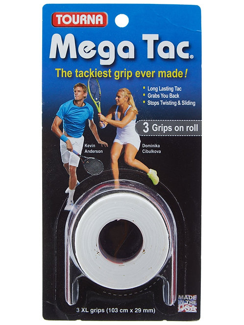 Tourna Grip Mega Tac Overgrip White