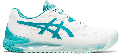 Women's Asics Gel-Resolution 8 (White/Lagoon)