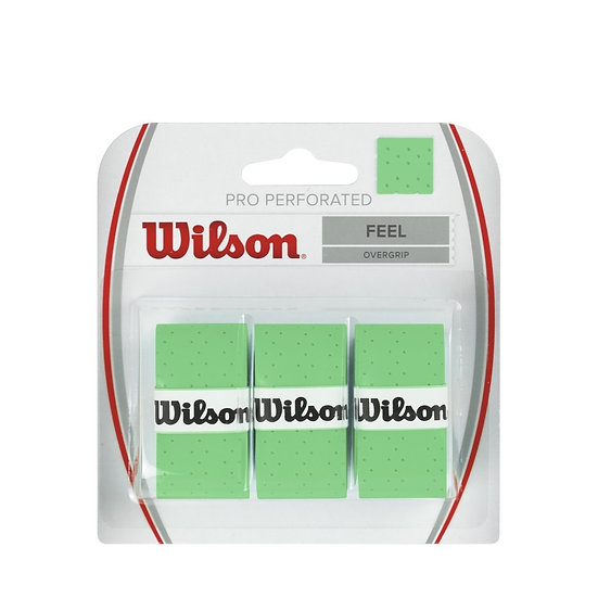 Wilson Pro Overgrip Perforated Green (3-Pack)