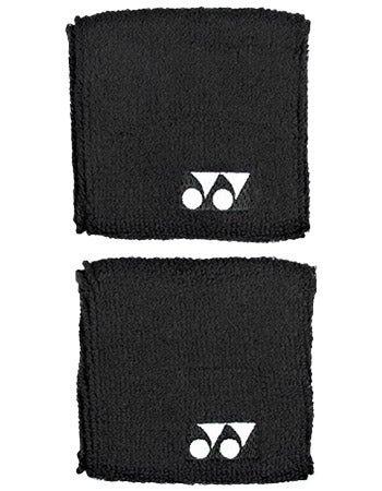 "Yonex 3"" Wristband Pair - Black"