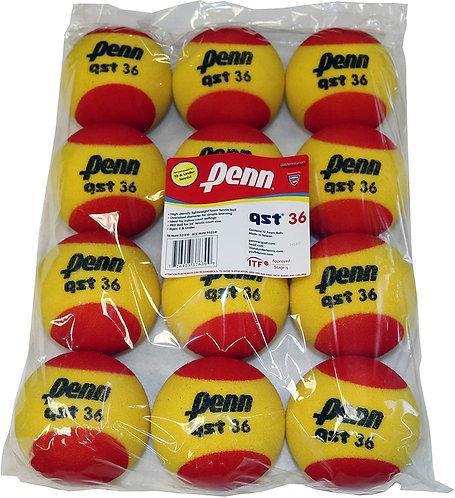 Penn Quick Start Tennis Balls 36' Red Foam (12-Pack)