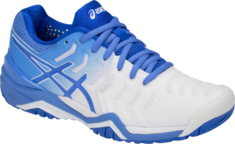 Womens Asics Gel-Resolution 7 (White/Blue Coast)