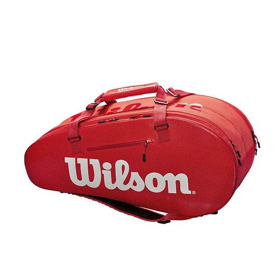 Wilson Super Tour 2 Comp 9-Pack Bag (Red)