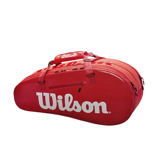 Wilson Super Tour 2 Comp 6-Pack Bag (Red)