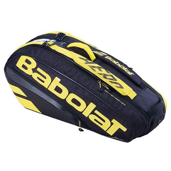 Babolat Pure Aero 2021 6 Pack Bag (Black/Yellow)