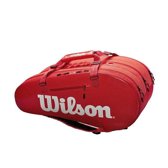 Wilson Super Tour 3 Comp 15-Pack Bag (Red)