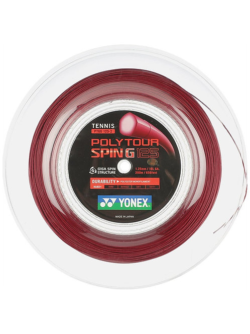 Yonex Poly Tour Spin G 16L Reel (200M-Dark Red)
