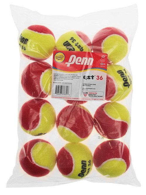 Penn Quick Start Tennis Balls 36' Red Felt (12-Pack)