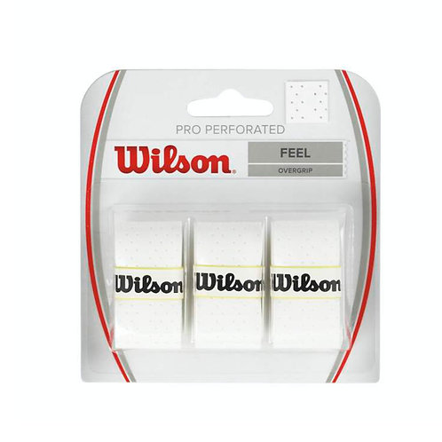 Wilson Pro Overgrip Perforated White (3-Pack)