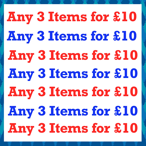 Any 3 for £10