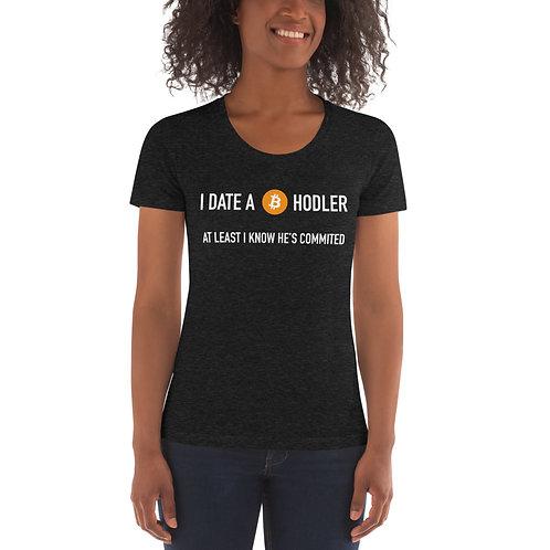 I Date A Bitcoin HODLER - Women's Crew Neck T-shirt