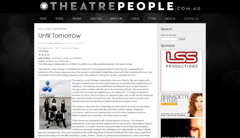 Theatre People -4 STAR Review