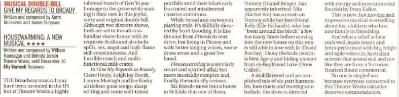 THE AGE, 4 STAR Review