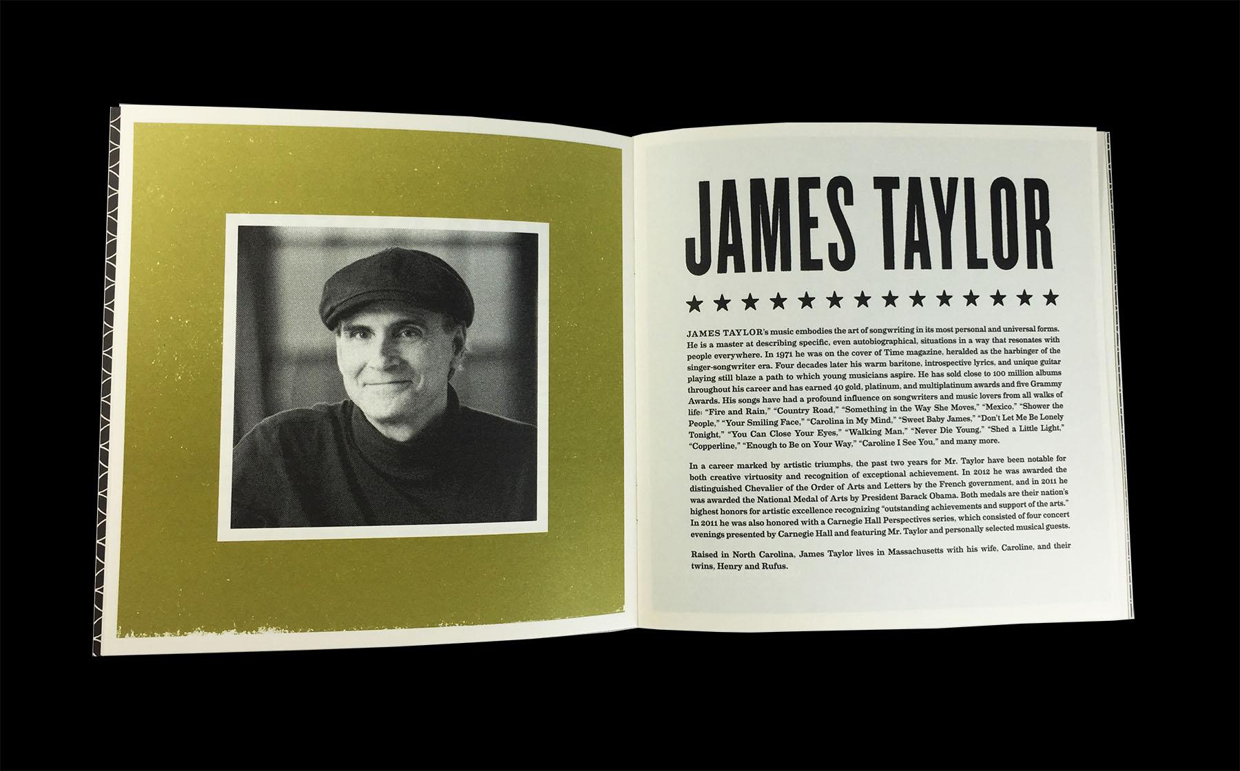 James Taylor Programs