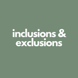 Inclusions & Exclusions
