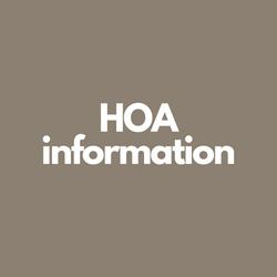 HOA Information