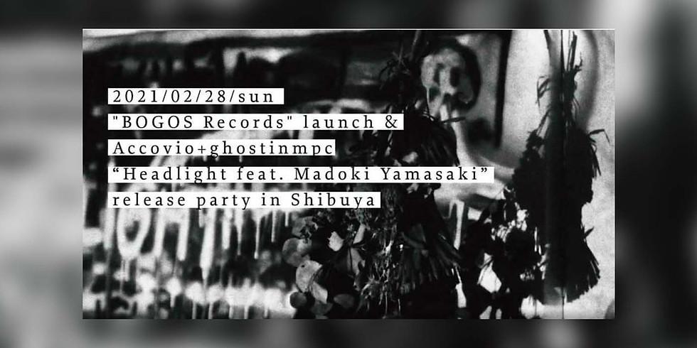 """BOGOS Records"" launch & Accovio+ghostinmpc""Headlight feat. Madoki Yamasaki"" release party in Shibuya"