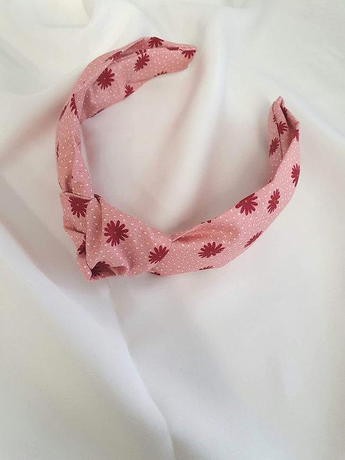 Pink Daisy Print Headband