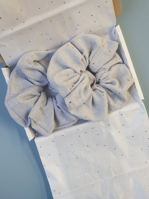 Organic Cotton Scrunchie Set
