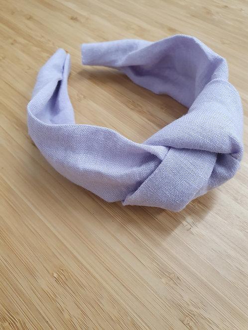 Lilac Linen Knot Headband