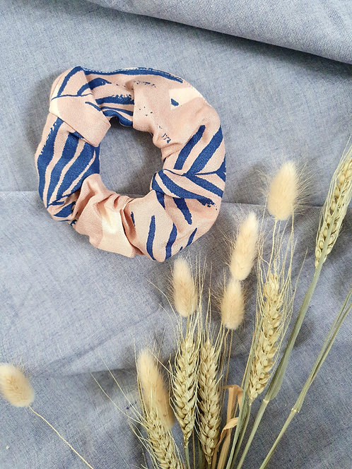 LIMITED EDITION Blush and Cobalt Blue Palm Scrunchie