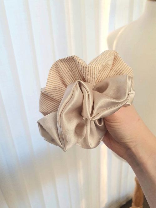 Silk and Stripe Scrunchie Set