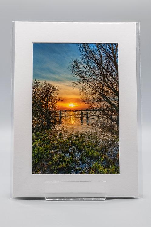 Ouse Washes Sunset Welney Norfolk