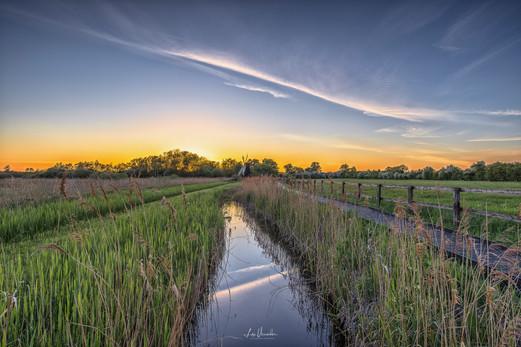 Wicken Fen Sunset