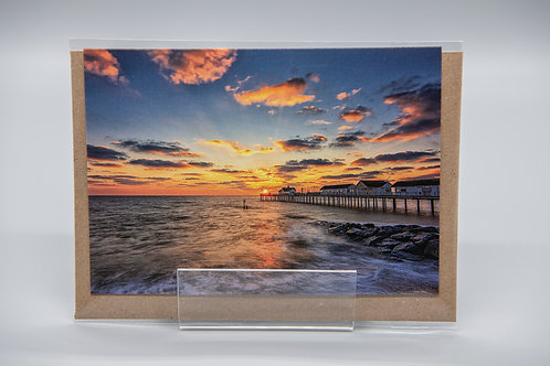 A6 Greetings Card Southwold Pier Sunrise