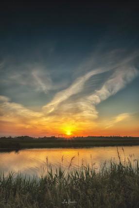 Fenland Summer Sunset Littleport Bank