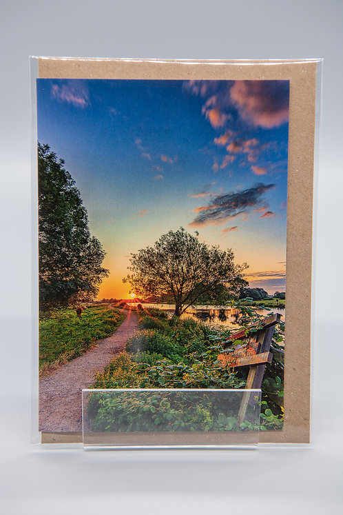 A6 Greetings Card Path to Sunrise Ely Cambs