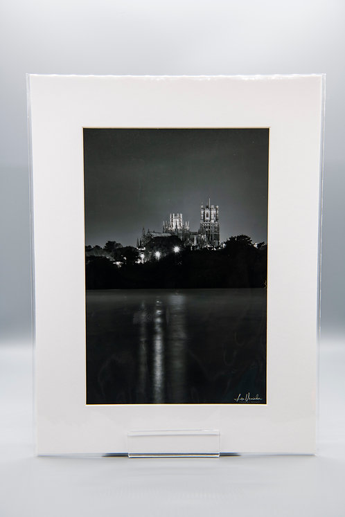 Nightime Ely Cathedral Reflections