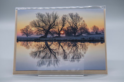 A6 Greetings Card Sunrise Reflections