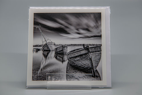 135mm Square Greetings Card Pin Mill Suffolk