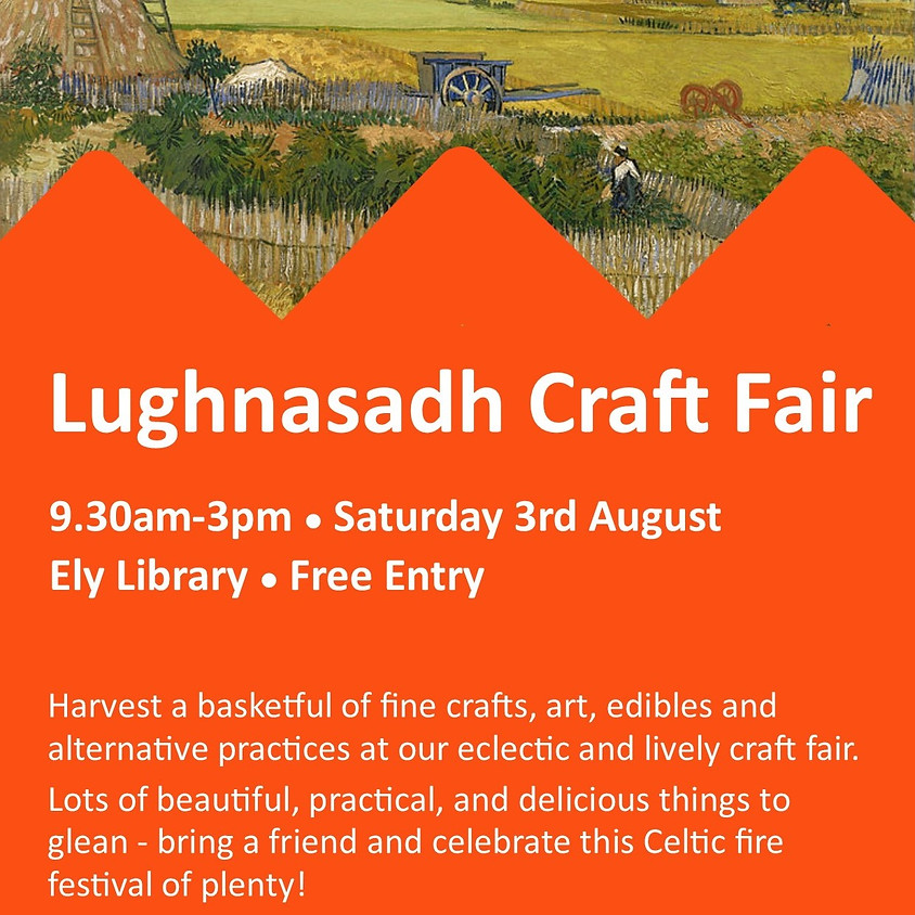 Sat 3rd Aug - Ely Cambs Library Craft Fair
