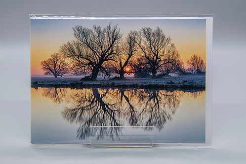 A5 Greetings Card Sunrise Reflections