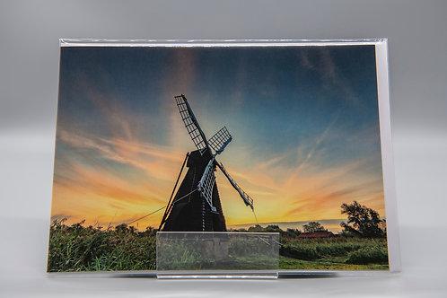 A5 Greetings Card Wicken Fen Sunrise