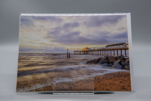 A5 Greetings Card Southwold Pier Suffolk