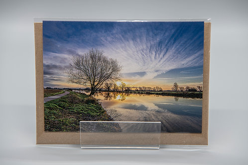 A6 Greetings Card Winters Sunrise Ely Cambs