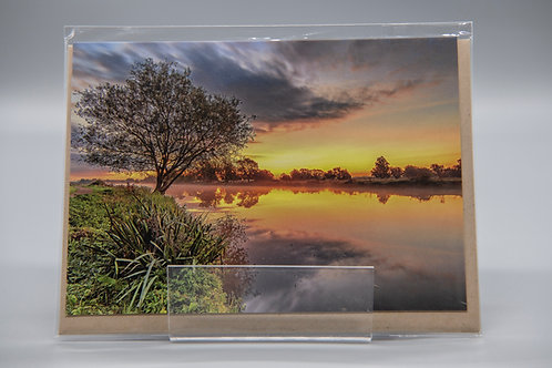A6 Greetings Card Lone Tree Sunrise