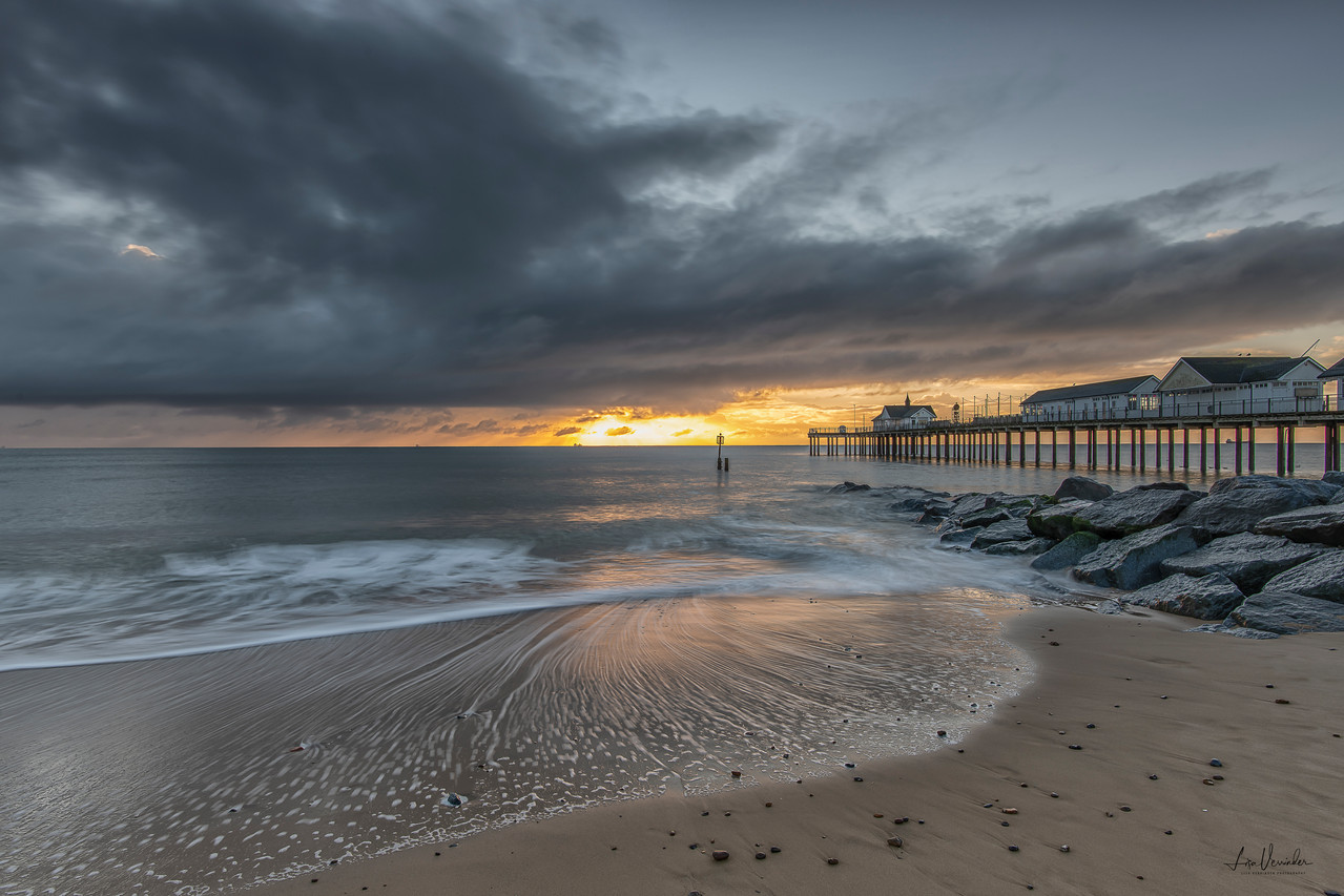 Moody Skies over Southwold Pier Suffolk