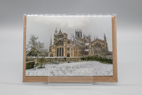 A6 Christmas Card Winters View Ely Cathedral