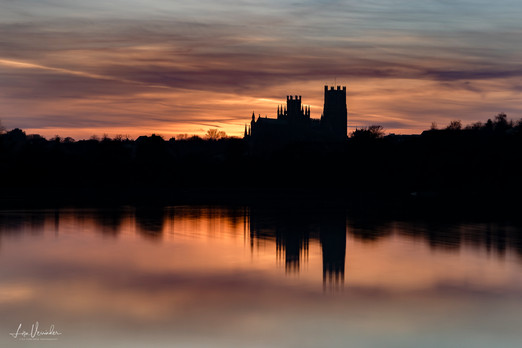Silhouette Sunset Ely Cathedral