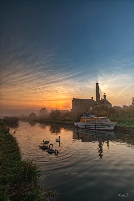 Sunrise at Stretham Old Engine Cambs