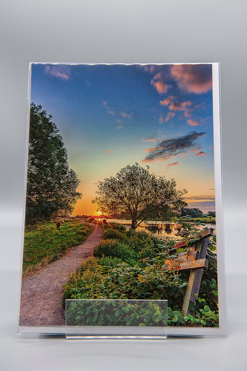 A5 Greetings Card The Path to Sunrise