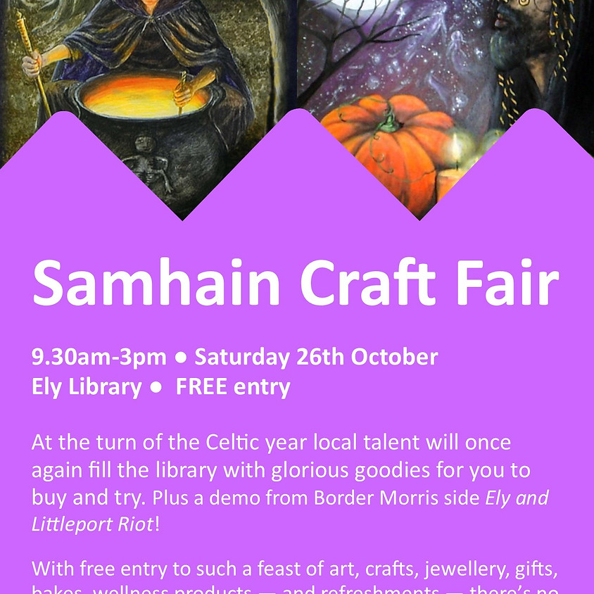 Sat 26th Oct - Ely Cambs Library Craft Fair